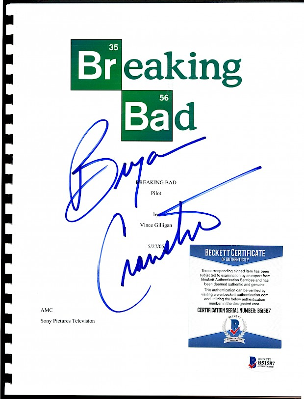 Breaking Bad Pilot Script with Bryan Crantson Autograph