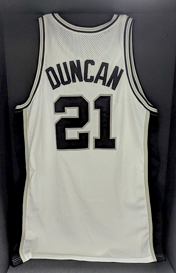 1997 Game-Worn Duncan Rookie Jersey