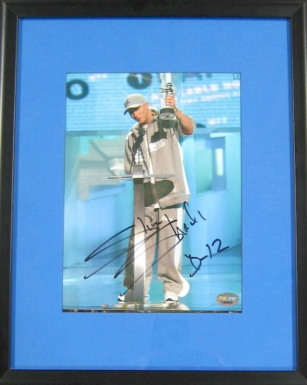 Eminem Autographed VMAs Framed Photo