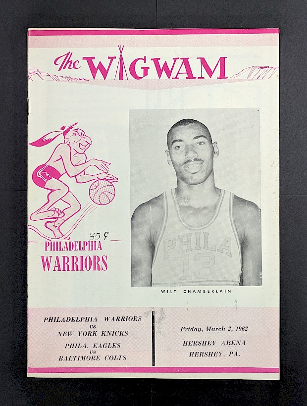 Wilt Chamberlain 100 Point Game Program
