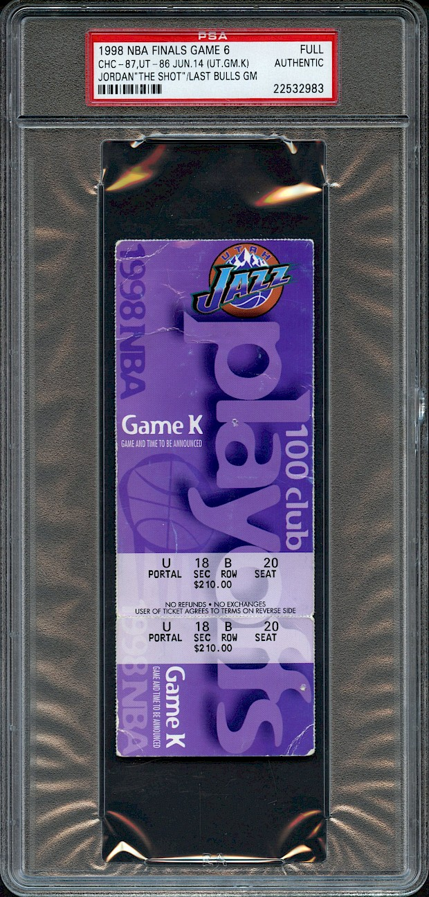 1998 NBA Finals Full Ticket