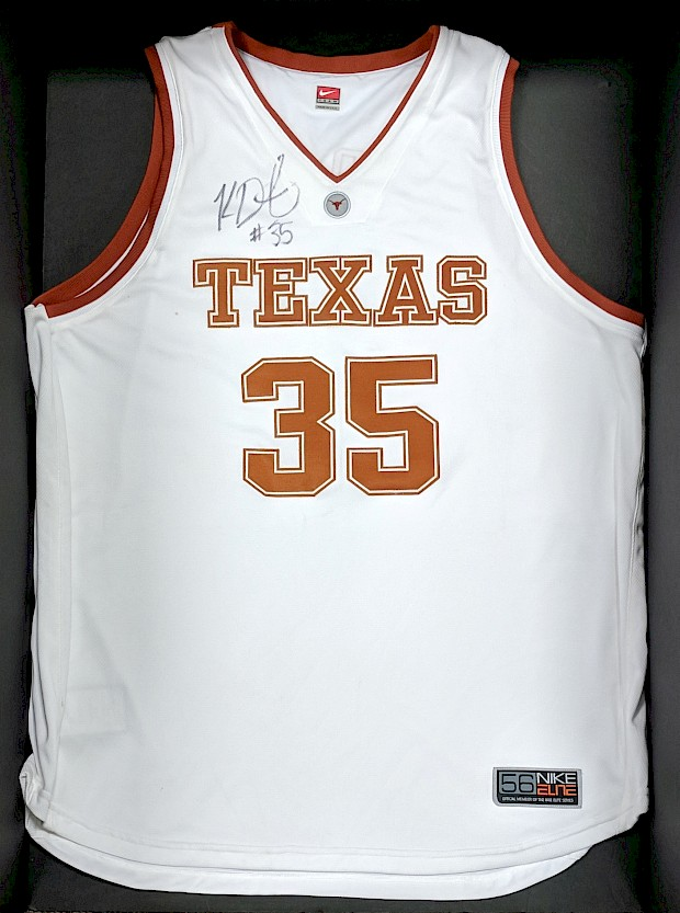 Kevin Durant Autographed Texas Jersey