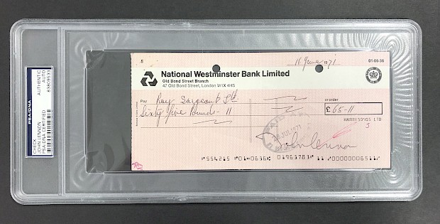 John Lennon Signed Check